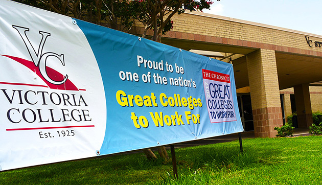 Victoria College Great Colleges Banner